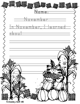 Handwriting without Tears NOVEMBER writing page