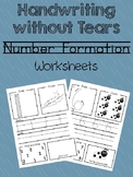 Handwriting without Tears Number Worksheets