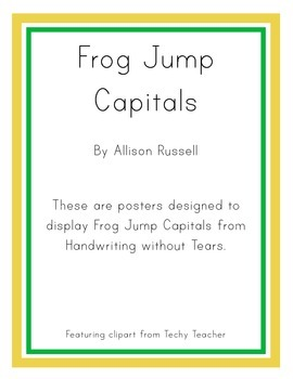 Handwriting without Tears Posters - Frog Jump Capitals