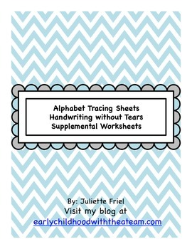 Handwriting without Tears for Early Childhood Autism