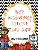 "Handwriting without Tears lined paper for K-2 for the ""Fall"""