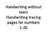 Handwriting without tears numbers 1-20 tracing pages