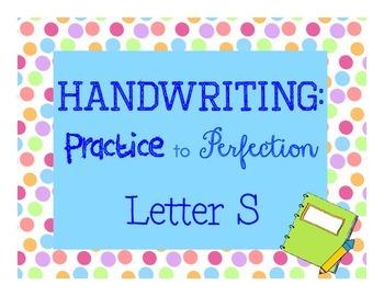 Handwriting workbook, Letter S