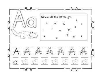 Handwriting Practice to Perfection BUNDLE, Identify and write A-Z