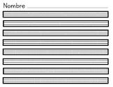 Handwriting worksheet / Hoja de Caligrafía: english and español (blank)