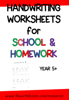 New Zealand Handwriting Worksheets for Year 5+