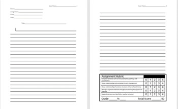 Handwritten Essay Paper with Rubric and MLA formatting - Editable
