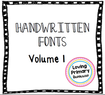 Handwritten Font Pack Vol. 1