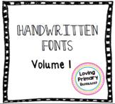 Handwritten Font Pack Vol. 1