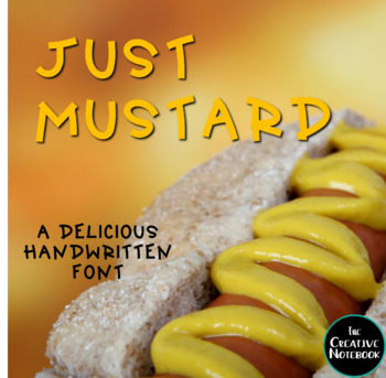 Handwritten Font for Personal or Commercial Use: JF Just Mustard