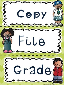 Handy Classroom Signs, Labels, and Forms For Back to School