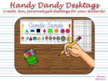 Handy Dandy Desktags - D'Nealian Style!