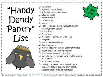 """Handy Dandy Pantry"" List - A Complete List of MULTI-SENSO"
