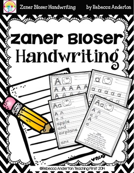Handwriting - Zaner Bloser (Old Style)