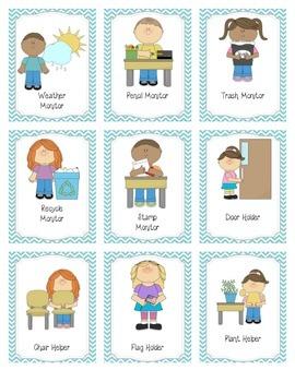 Handy Helpers Classroom Jobs