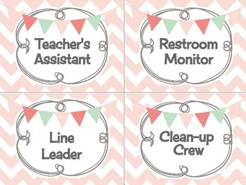 Handy Helpers Classroom Jobs Chore Chart Shabby Chic Rustic Burlap