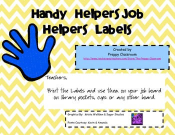 Handy Helpers Job Helper Labels
