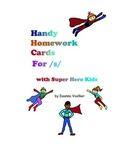 Handy Homework Cards for the /s/ sound (IMF)