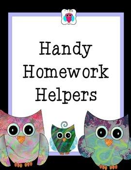 Handy Homework Helpers