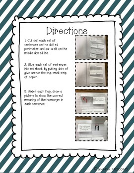 {CCSS.ELA-Literacy.L.4} Handy Homonyms- Interactive Notebook Activity