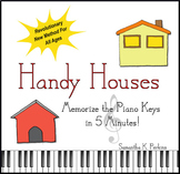 Handy Houses:  Memorize the Piano Keys  in 5 Minutes Book