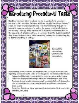 Handy How To: A Procedural Text Writing Mini Unit {W.2.2}