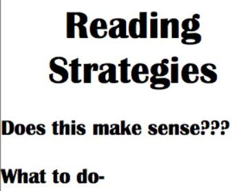 Handy Reading Strategies Bookmarks