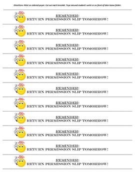 Handy Reminder Bracelets Packet