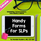 Handy SLP Editable Forms for Attendance, Accommodations, &