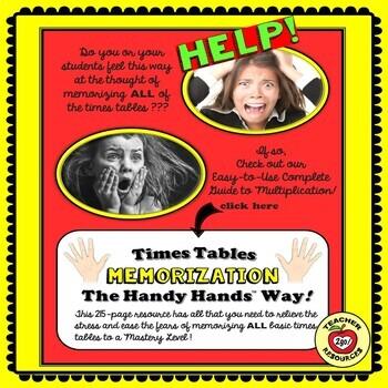 MULTIPLICATION TARGET PRACTICE - THE HANDY HANDS WAY!