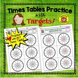 Times Tables Practice: Targets (Color & B/W)
