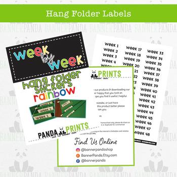 Hang Folder Labels