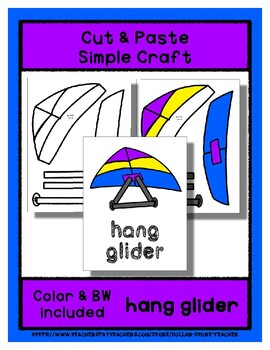 Hang Glider  - Cut & Paste Craft - Super Easy perfect for Pre-K & Kindergarten