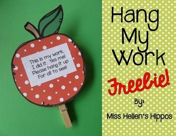 """Apple """"Hang My Work"""" FREEBIE!"""