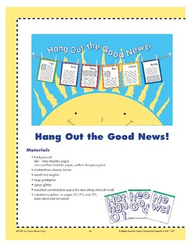 Hang Out the Good News! (Bulletin Board)