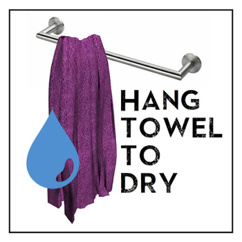 Towel Sign, Towel Poster, Hang Towel To Dry