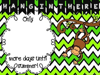 Hang in There Summer Countdown
