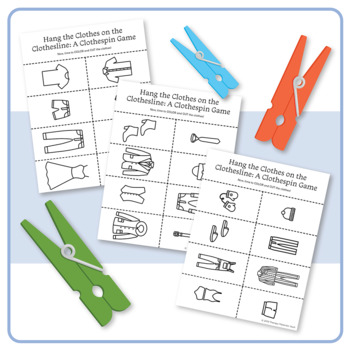 Hang the Clothes on the Clothesline: A Clothespin Game