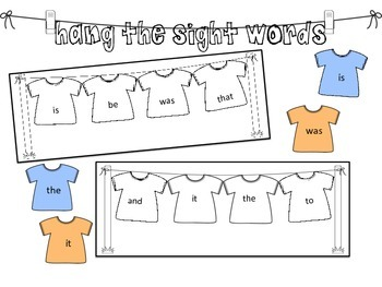 Hang the Sight Words