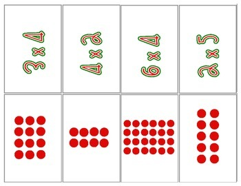 Hang the Stockings Multiplication Matching Game