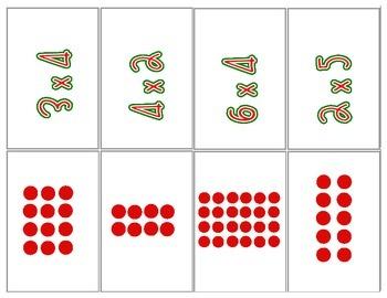 Hang the Stockings Multiplication Matching Game
