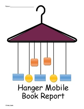 hanger mobile book report by teaching 4th grade with aloha tpt
