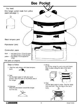Hanger Pockets: Bee and Birthday Cake