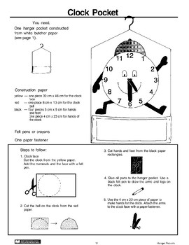 Hanger Pockets: Clock and Mouse