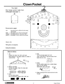 Hanger Pockets: Clown and Pencil