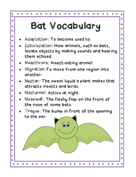 Hanging Around with Bats- a Mini Science and Literacy Unit