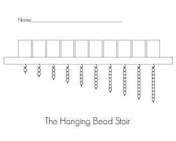 Hanging Bead Stair for Montessori