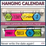 Hanging Classroom Calendar with Hexagons