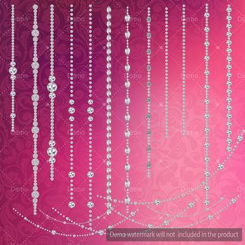 Hanging Diamond Chain Diamond String Diamond Strand Diamond Clip Arts