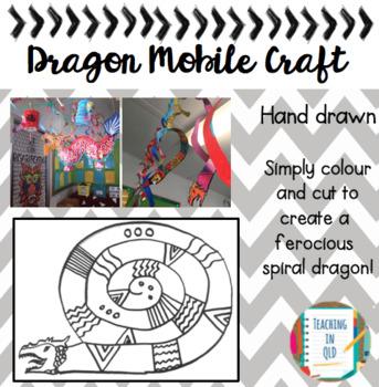 Hanging Dragon Mobile Craft *FREEBIE*